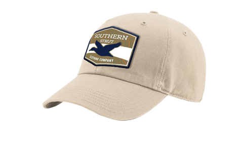 Khaki Ducks Flying Woven Patch Dad Hat