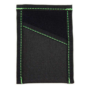 Black Neoprene with Green Stitch