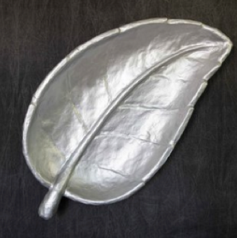 BIG LEAF BOWL SILVER