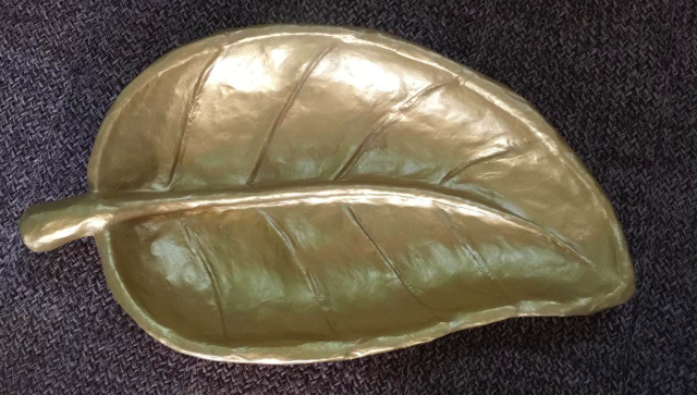 BIG LEAF BOWL GOLD