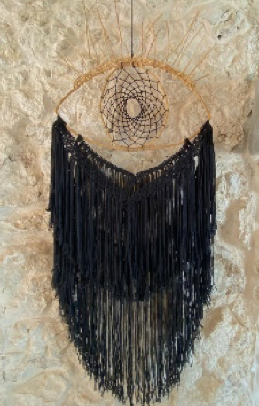 RUSTIC BEJUCO EYE THREADS IN BLACK