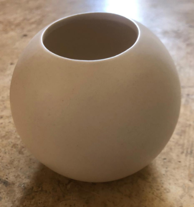 SPHERE WHITE POT