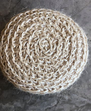 SMALL HENEQUEN MEDITATION POUF NATURAL-SUSANA
