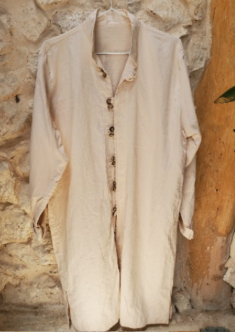 MOROCCAN LONG SHIRT DOUBLE BOTTON