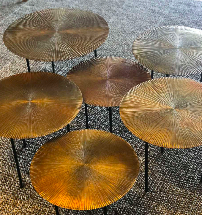 COPPER SET TABLES