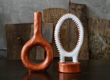 COPPER RING WITH TUBE VASE