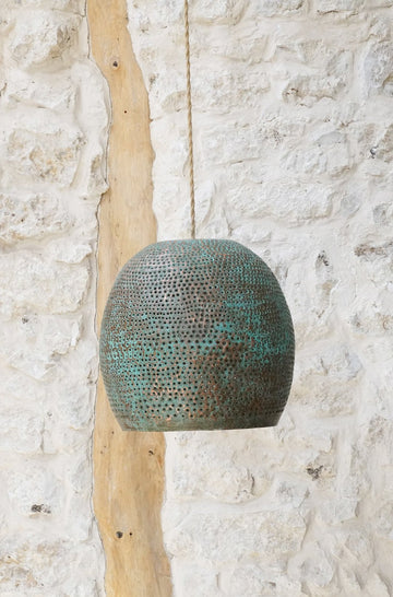 GREEN COPPER LAMP