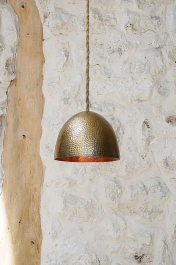 SMALL GOLD COPPER LAMP