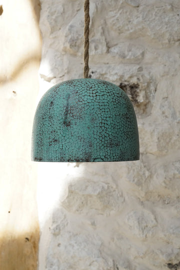BABY GREEN COPPER LAMP