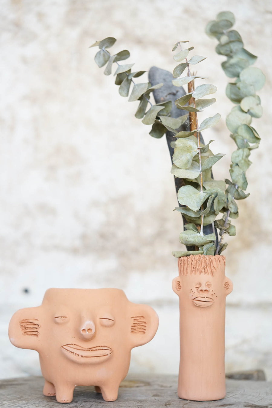 Face Clay Pots