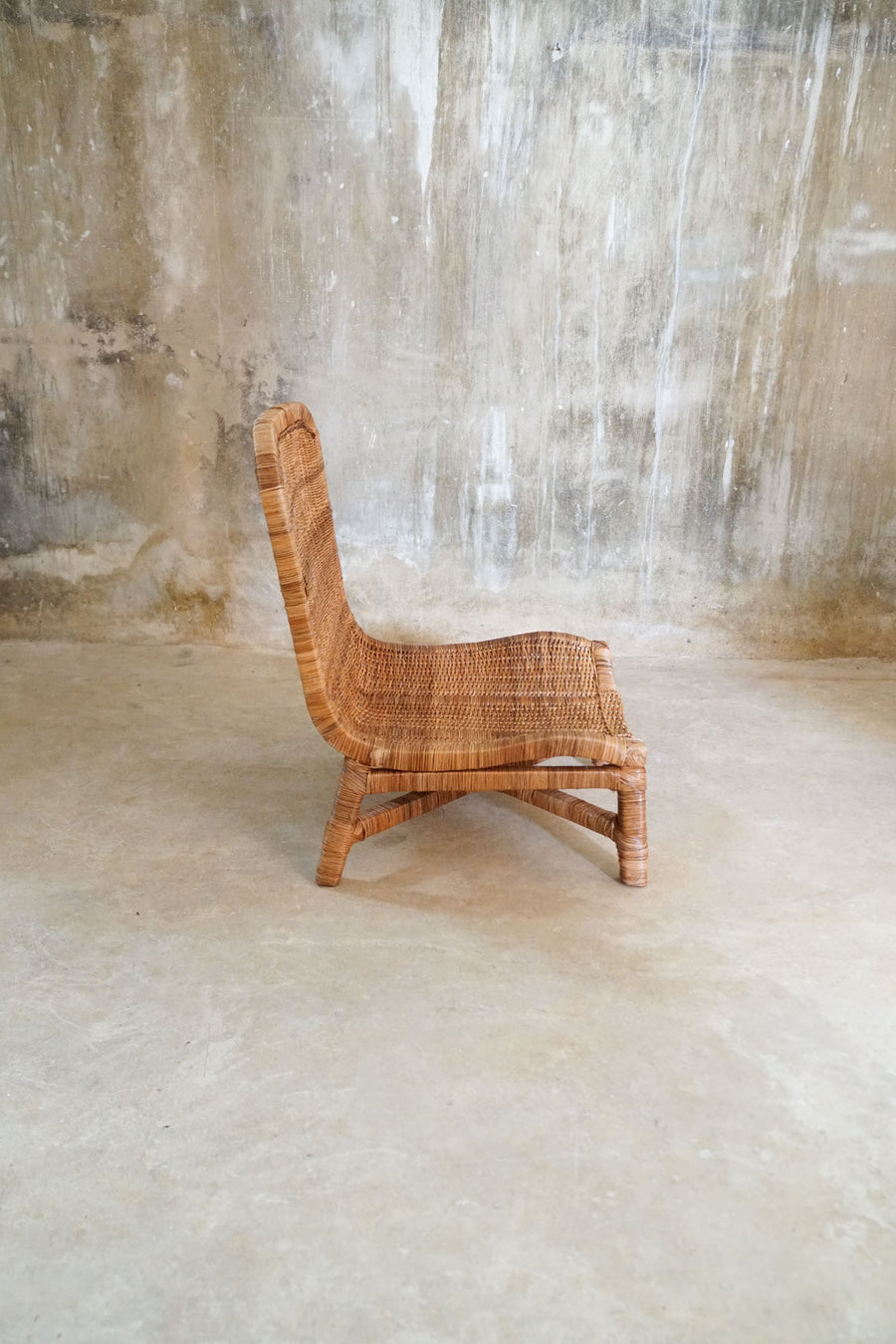 LOW WICKER CHAIR