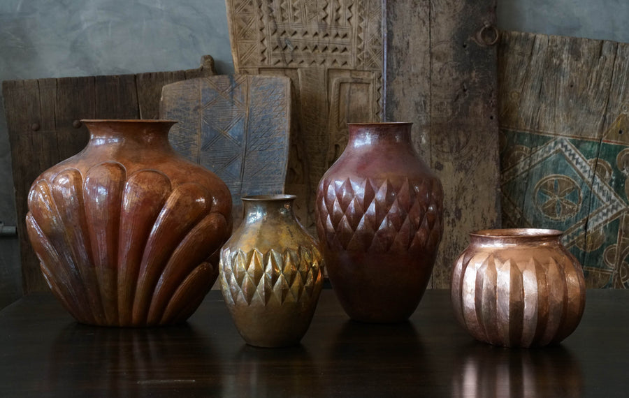 SHELL COPPER VASE-BELART