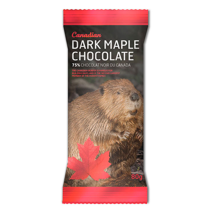 Beaver Dark 75% Chocolate Bar with Maple