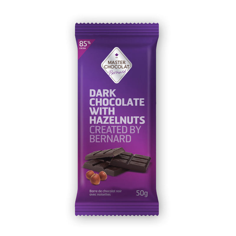 Dark 85% Chocolate Bar with Hazelnuts