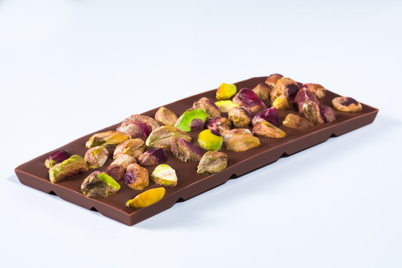 Milk Chocolate Bar with Pistachios