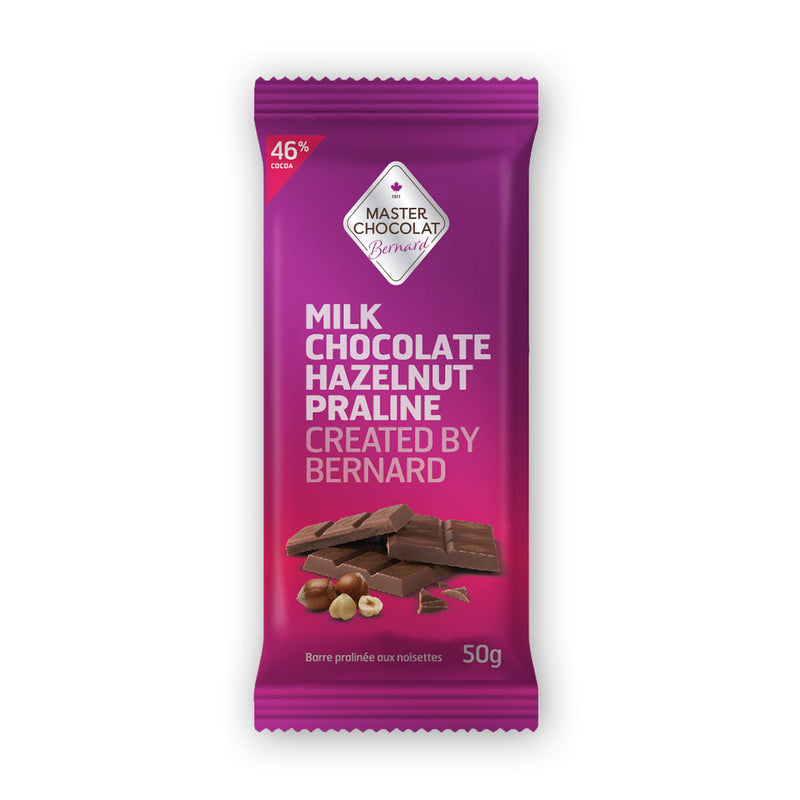 Hazelnut Nut Praline Milk Chocolate Bar