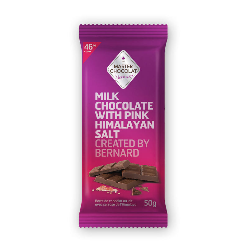 Milk Chocolate Bar with Pink Himalayan Salt