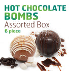 Assorted Hot Chocolate Bomb Box - 6 Pieces