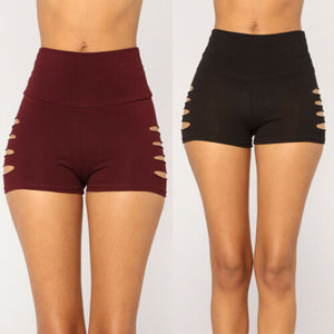 Hollow Out Skinny Shorts