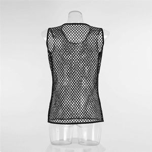 Sexy Mesh Sheer Fishnet Vest
