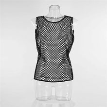 Load image into Gallery viewer, Sexy Mesh Sheer Fishnet Vest