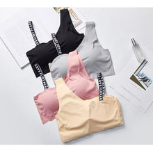 Load image into Gallery viewer, Letter Cut Out Bra