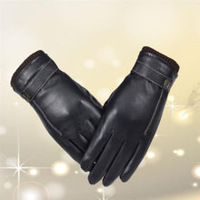 Load image into Gallery viewer, Winter Warm Leather Cycling Gloves