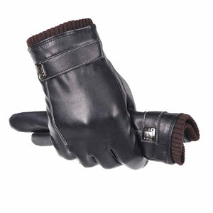 Winter Warm Leather Cycling Gloves