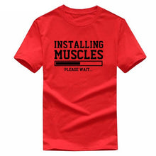 Load image into Gallery viewer, Installing Muscle Printed T Shirt