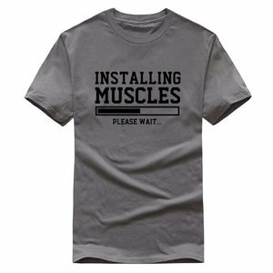 Installing Muscle Printed T Shirt