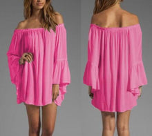 Load image into Gallery viewer, Off Shoulder Ruffles Dresses