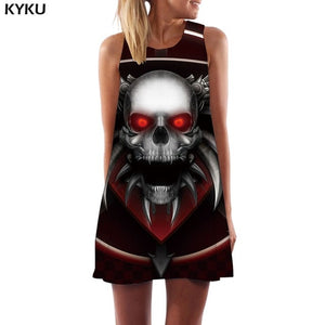 Skeleton Tank Gothic Dress