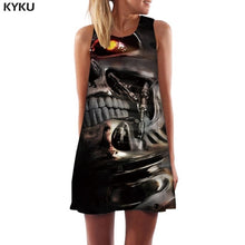Load image into Gallery viewer, Skull Black Short Dress