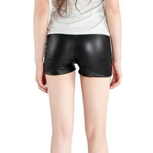 High Waist PU Shorts Casual Shorts