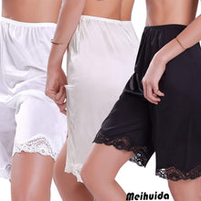 Load image into Gallery viewer, Comfy Casual Lace Hem Satin Shorts