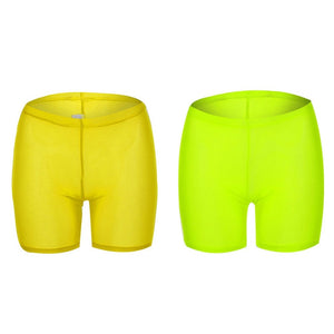 Multi Colors Mesh Transparent Shorts
