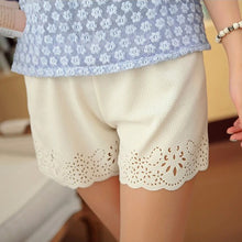 Load image into Gallery viewer, High Waist Hollow Floral Casual Shorts