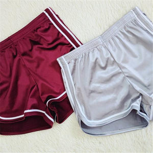Female Tricolor Stripe Casual Shorts