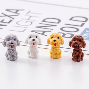 Mini Teddy Dog Pencil Eraser