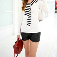 Load image into Gallery viewer, High Waist PU Shorts Casual Shorts