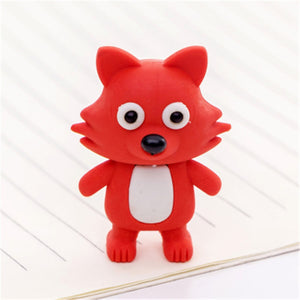 Cute Fox Rubber