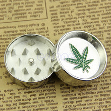 Load image into Gallery viewer, New Leaf 2 PART Metal Manual Herb Grinder