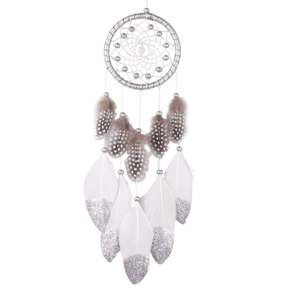 Handmade Silver Bead Dream Catcher