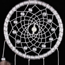 Load image into Gallery viewer, Handmade Silver Bead Dream Catcher