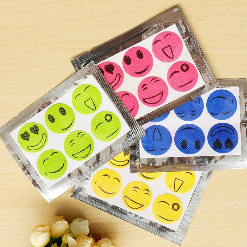 Insect Cartoon Smiley Stickers