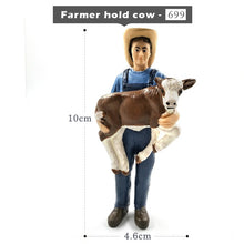 Load image into Gallery viewer, Simulation Farm hold dog sheep Cow pig Farmer people Model figurine miniature fairy garden home decor decoration accessories toy