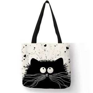 Customized Cute Cat Printing Women Handbag