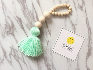 Wooden Beads With Tassel Tent