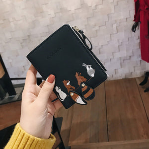 Leather Female Small Card Holder