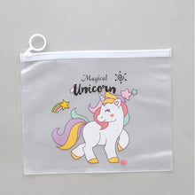 Load image into Gallery viewer, Leopard Unicorn Transparent Makeup Bag